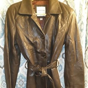 ANDREW MARC WOMENS LEATHER JACKET